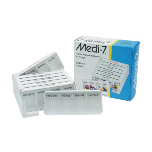 Medi-7 Medikamentendosierer, weiß